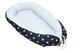 Riduttore per culla ULLENBOOM® blu, azzurro, grigio (paracolpi 55x95 cm, cuscini in cotone...