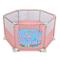 LNDDP Box per Bambini Sicurezza con Materasso e Palla, Hexagon Baby Playards con Tendina a...