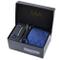 Massi Morino ® Set Cravatta + Gemelli + Fazzoletto + Fermacravatta - Cucita a Mano in Micr...