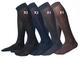 Ciocca Calze uomo lunghe, pregiato cotone 100% FILO SCOZIA - 6 Paia - tre taglie calze (44...