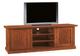 Porta TV in legno massello, noce, arte povera - cm 160