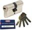 ABUS EC660 cheerio-cilindro Lunghezza (a/B) 30/60 mm (C=90mm) con 5 chiavi, carte di credi...