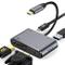 HOTUCG USB C Hub Adapter, Adattatore USB C con 4K HDMI, 1080P VGA, USB 3.0, Tipo C 87W PD,...