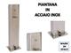 Piantana porta dispenser, in ACCIAIO INOX, elegante, SISTEMA MECCANICO E COMPLETAMENTE INN...