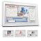 LALFOF® Cornice Impronte Neonato 7in1 con NOME e porta BRACCIALE NASCITA. Kit porta foto i...