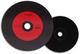 NMC, 50 CD-R, stile dischi in vinile, rossi, Carbon Dye, parte posteriore completamente ne...