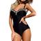 Mbby Costume da Bagno Shaping Donna Intero Push up Trikini con Bretella Regolabile Monokin...