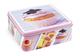 Home Scatola Quadra, Decoro Candy, 15x6 cm, Latta, Multicolore, 20x20x8 cm