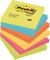 Post-it Super Sticky Foglietti, 100 Fogli, Confezione da 6 Blocchetti, 76 x 76 mm, Multico...