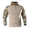 KEFITEVD - Camicia tattica militare a maniche lunghe da uomo, con cerniera frontale a 1/4...