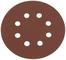 Silverline 206505, Disco abrasivo perforato, 125 mm, 10 pz, grana 240