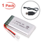Hootracker 3.7V 1800mah Lipo Battery 25C XH2.54 Plug with USB Charger for RC Quadcopter Dr...