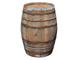 Temesso Botte da Vino Rustica in Rovere, barile, da Usare Come Tavolo, Decorazione - Altez...