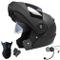 Dongjiuk Caschi Moto Bluetooth - Flip up modulare Integrato con Doppia Visiera, Casco Inte...
