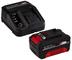 Einhell 4512041 Starter Kit Batteria e Caricabatterie Power X-Change (Ioni di Litio, 18 V,...