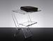 Slato Comodino da Notte dal Design Moderno in plexiglass Trasparente Oniro (32 × 27 × h 38...