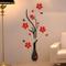 Topgrowth Wall Sticker Adesivi da Parete DIY Vaso Fiore Albero Cristallo Adesivi Murali 3D...