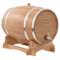 vidaXL Massello di Rovere Barilotto di Vino con Spina 35 L Fusto Botte Barile
