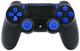 Controller modulato nero/blu per Playstation 4 Pro Rapid Fire per COD Black Ops 3, IW, Gho...