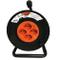 BTicino S2525N Kit Avvolgicavo 3x1.5, 25 m, 4 Prese Pluristandard, Nero/Arancio