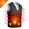 ISOPHO Gilet Riscaldato USB Giacca Riscaldabile Elettrica,Scollo a V Giubbotto Riscaldato...