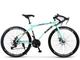 ZTYD Bicicletta della Strada, 24 velocità 26 Bici Pollici, Doppio Disco Freno, Acciaio al...