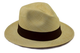 Tumi, vero cappello panama tradizionale in fibre naturali tessute a mano. marrone 60