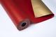 Bobina di carta da regalo 70 cm x 100 m Kraft doppia facciata oro/rosso