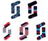 Happy Socks 41-46 - Set di 5 calzini formato A1, colori assortiti