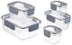 AmazonBasics - Contenitore per alimenti con chiusura, in tritan, 10 pezzi (5 contenitori +...
