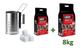 FUOCOBELLO Kit Ciminiera Accensione Plus con 6 accendifuoco + 2 kg di bricchetti + 8 kg di...