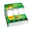 Scotch 3M Magic Tape Nastro Adesivo Trasparente Invisibile, 3 Pezzi, 7.5 m x 3
