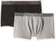 Calvin Klein 2 Pack Trunk Boxer, Multicolore (1 Black / 1 Grey Heather 034), 152 (Taglia P...