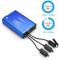 ICQUANZX Caricabatterie per Mavic 2 & Zoom, Hub caricabatterie rapido rapido 5 in 1 (caric...