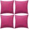 vidaXL 4X Cuscini da Esterno Rosa Cuscinetti Guanciali Decorativi da Giardino