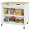 SoBuy Penisola Cucina Piano di Lavoro per Cucina con 2 cassetti a 2 Ripiani L100*P60*A94CM...