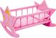 2865 Culla per bambole in legno Stella small foot, culla rosa con luna e stelle, culla per...