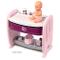 Smoby-Cuna Collare 2-in-1 Baby Nurse per Bambole Neonati, Colore: Viola