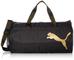 PUMA At Ess Barrel Bag, Borsone Donna, Black/Metallic Gold, Taglia Unica