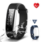 Fitness Tracker Impermeabile IP67, CHEREEKI Cardiofrequenzimetro Activity Tracker Braccial...