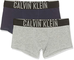 Calvin Klein 2 Pack Trunks Boxer, Grigio (1 Grey Heather/1 Blue Shadow 025), Unica (Taglia...