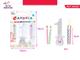 PartyGo- Set 4 Candeline con Base Numero 1 a LED Luminoso Candele Speciali 1° Compleanno,...