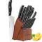 esonmus Set Coltelli, Coltelli da Cucina Professionali da Chef con Ceppo Coltelli in Legno...