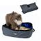 Petneces - Lettiera per gatti e animali domestici, pieghevole, portatile e impermeabile, d...