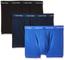 Calvin Klein 3p Low Rise Trunk Boxer, Blu (Black/Blue Shadow/Cobalt Water DTM WB), Large (...