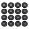 EXCEART Bottoni da 100 Pezzi Bottone Tondo in Resina Bottoni Piatti Neri da Cucire a 4 For...