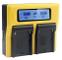 Bundlestar Caricatore doppio per la batteria Sony NP-F970 NP-F990 NP-FM500H e più/display...