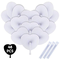 iZoeL 48pz Ventagli Bianchi Matrimonio Ventaglio Pieghevoli Confezione Coeur Ventagli di C...