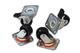Digitus LP7541 Set 4 Ruote per Armadi Rack Linea Professionale con Base, Due Ruote Bloccab...