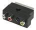 Valueline VLVP31902B Cavo di interfaccia e Adattatore SCART SCART/S-Video/3 x RCA Nero